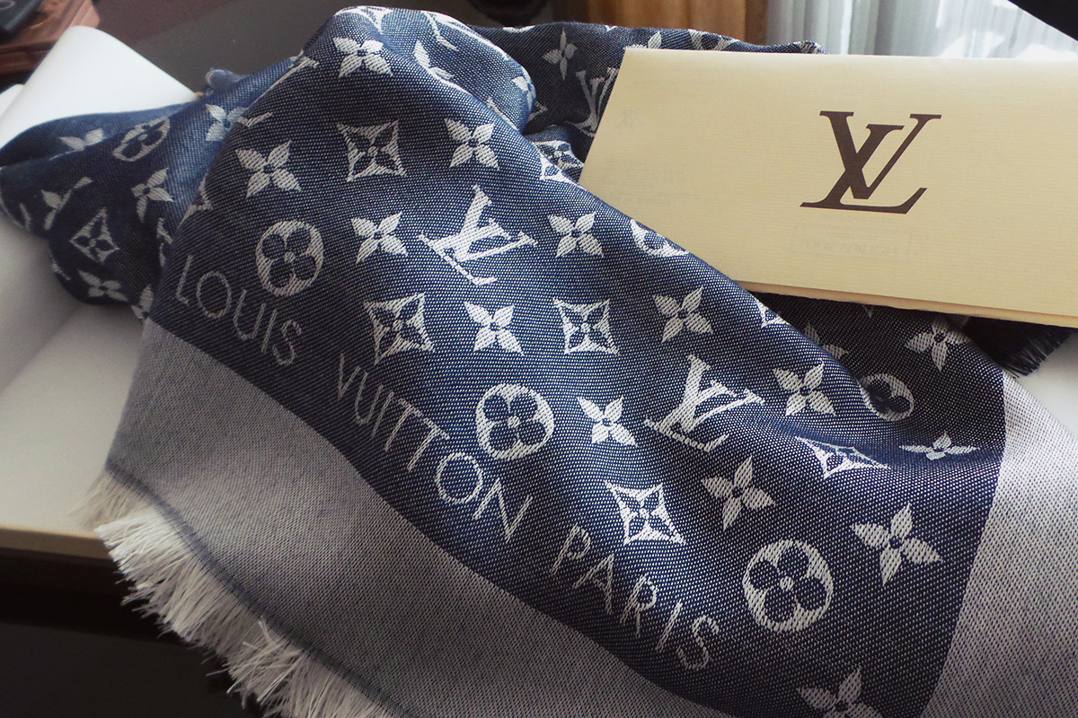 Daughter's day - LV Monogram Denim Scarf