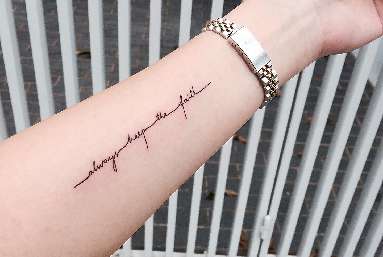 2015 Bucket list– Tattoo: Always keep the faith