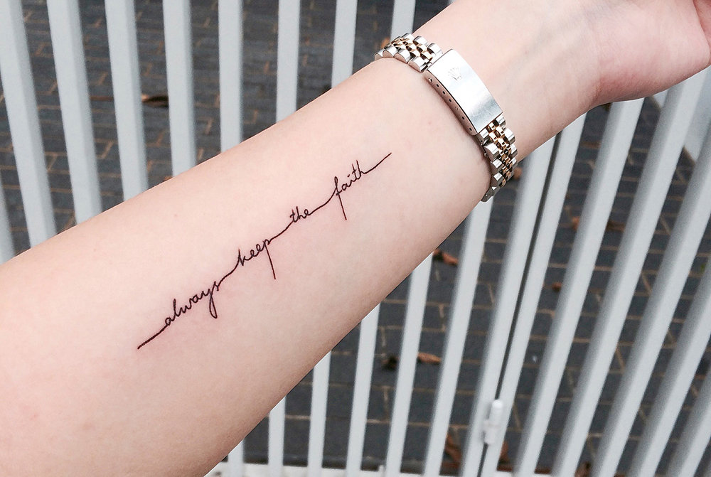 2015 Bucket list – Tattoo: Always keep the faith