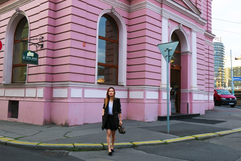 Pink in Prague Travel Lookbook