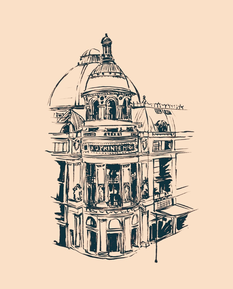 PRINTEMPS HAUSSMANN ILLUSTRATION