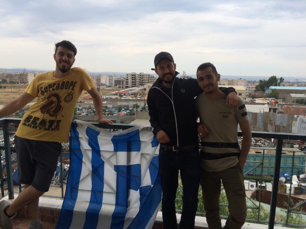 """Die syrischen Freunde Waseem und Hazim sind die ersten Teilnehmer des """"Pame"""" Projekt!"""