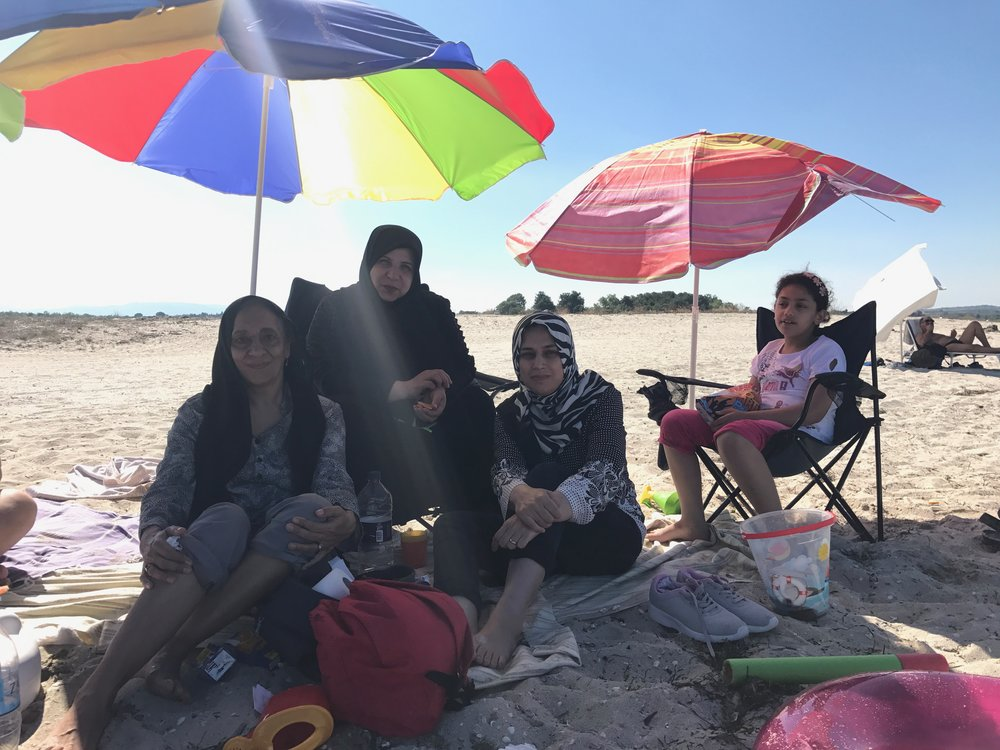 This family from Baghdad enjoyed the view and a small picnic.