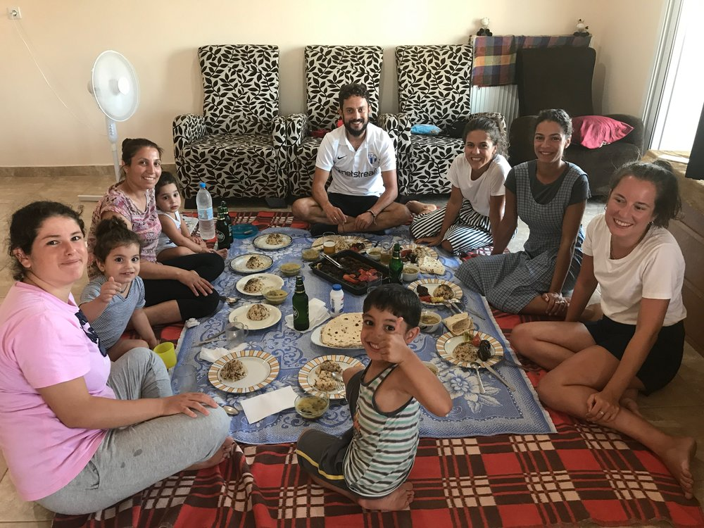 We had dinner with the Kurdish families two times and we grew really fond of them. We will stay in touch with them and keep updated with their further journey.