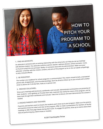 How to Pitch Your Program to a School Downloadable Resource