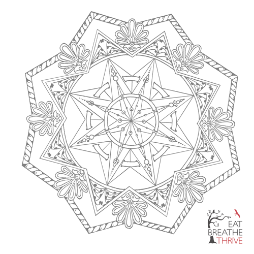 Printable mandala for coloring or meditation!