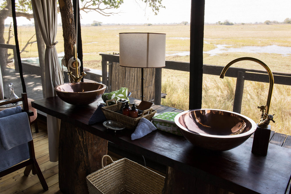 Villa Bathroom's look out over the Plains