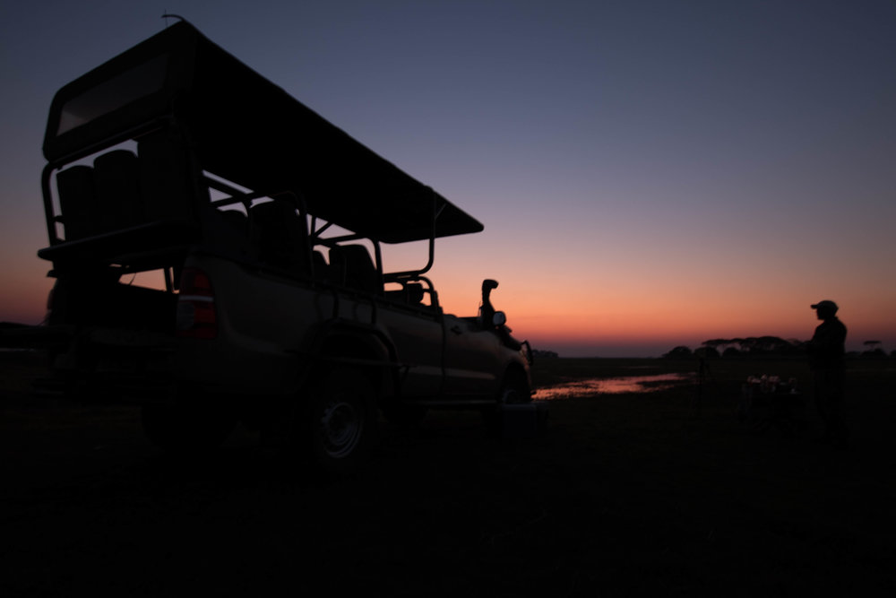 Enjoy Sundowners on the Plains each evening