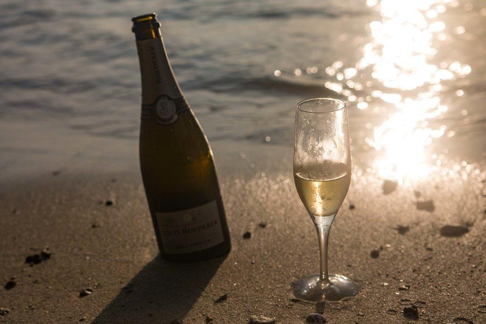 Champagne on the Beach at The Havannah, Vanuatu
