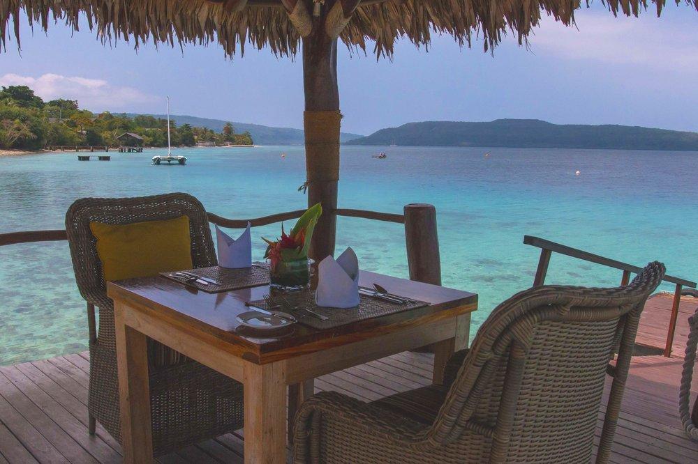 Breakfast on the Jetty at The Havannah, Vanuatu