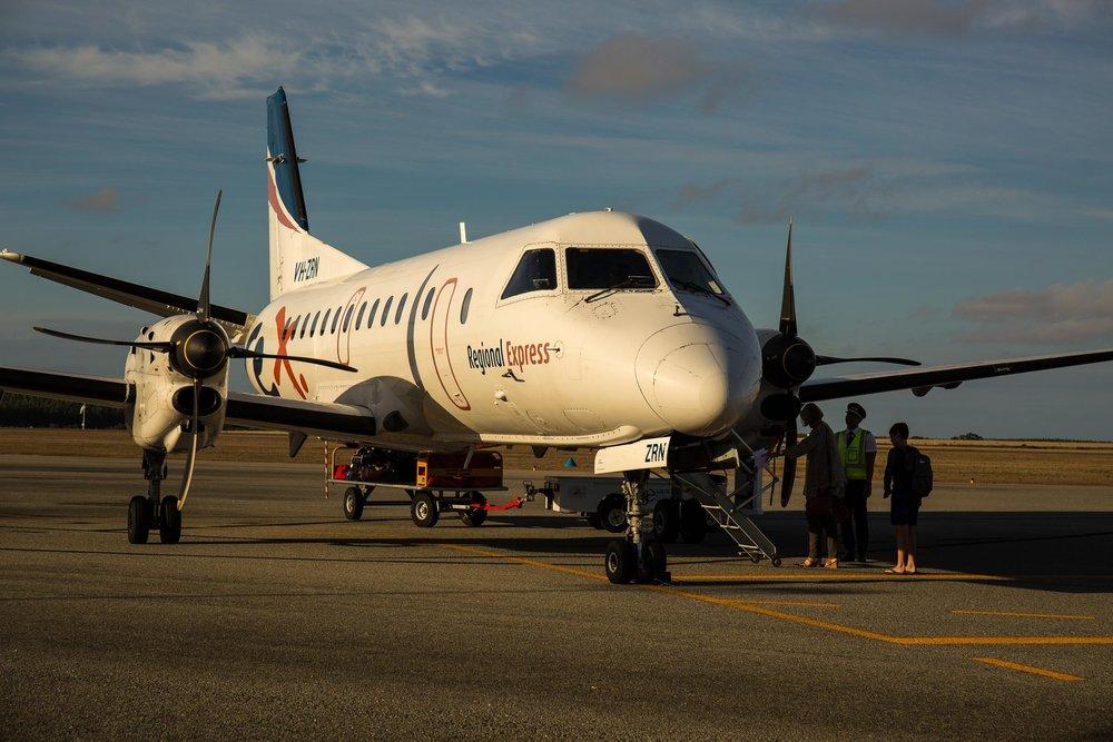 We flew REX (Regional Express)