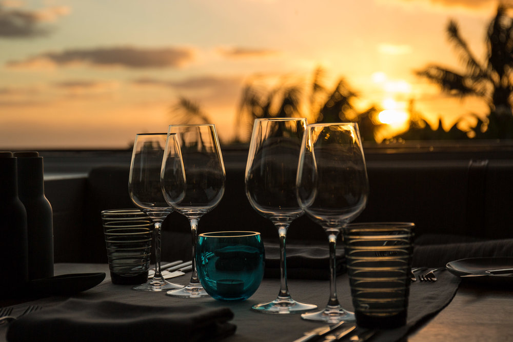Sunset from the Capella Lodge Restaurant