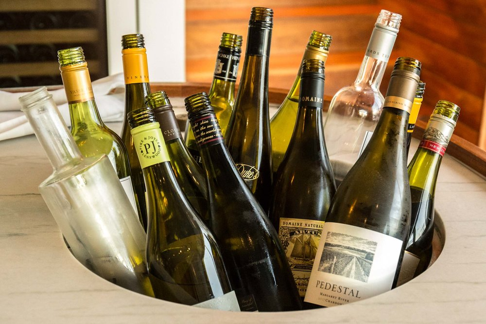 Free flowing vino at Capella Lodge, Lord Howe Island