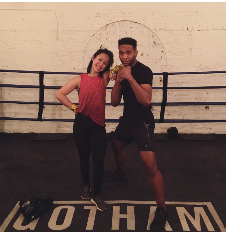 Gotham Boxing Gym in Soho - Boxing class with Toussaint JeanLouis