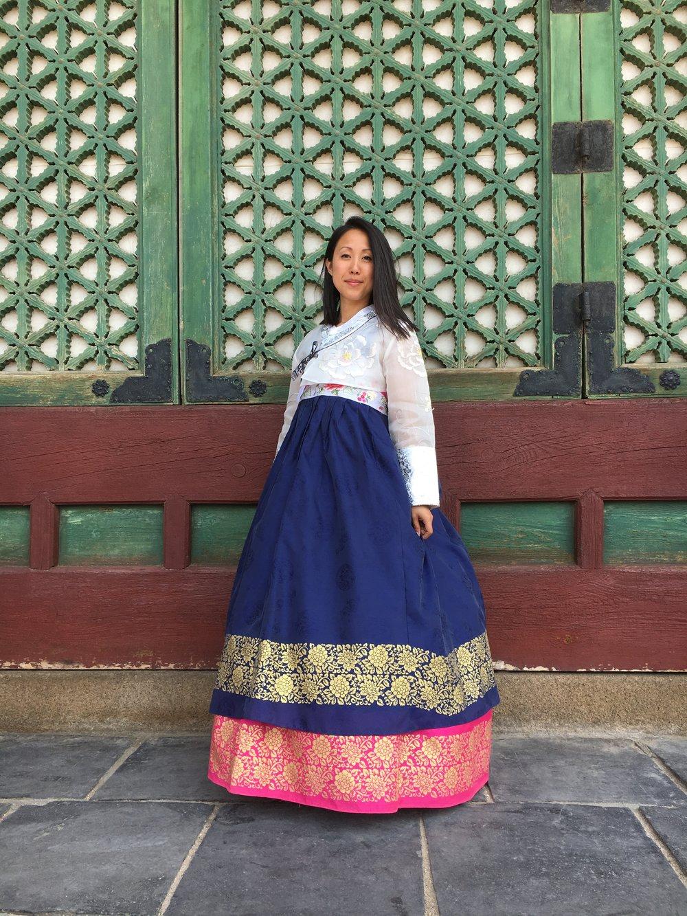 My chosen Hanbok outfit.