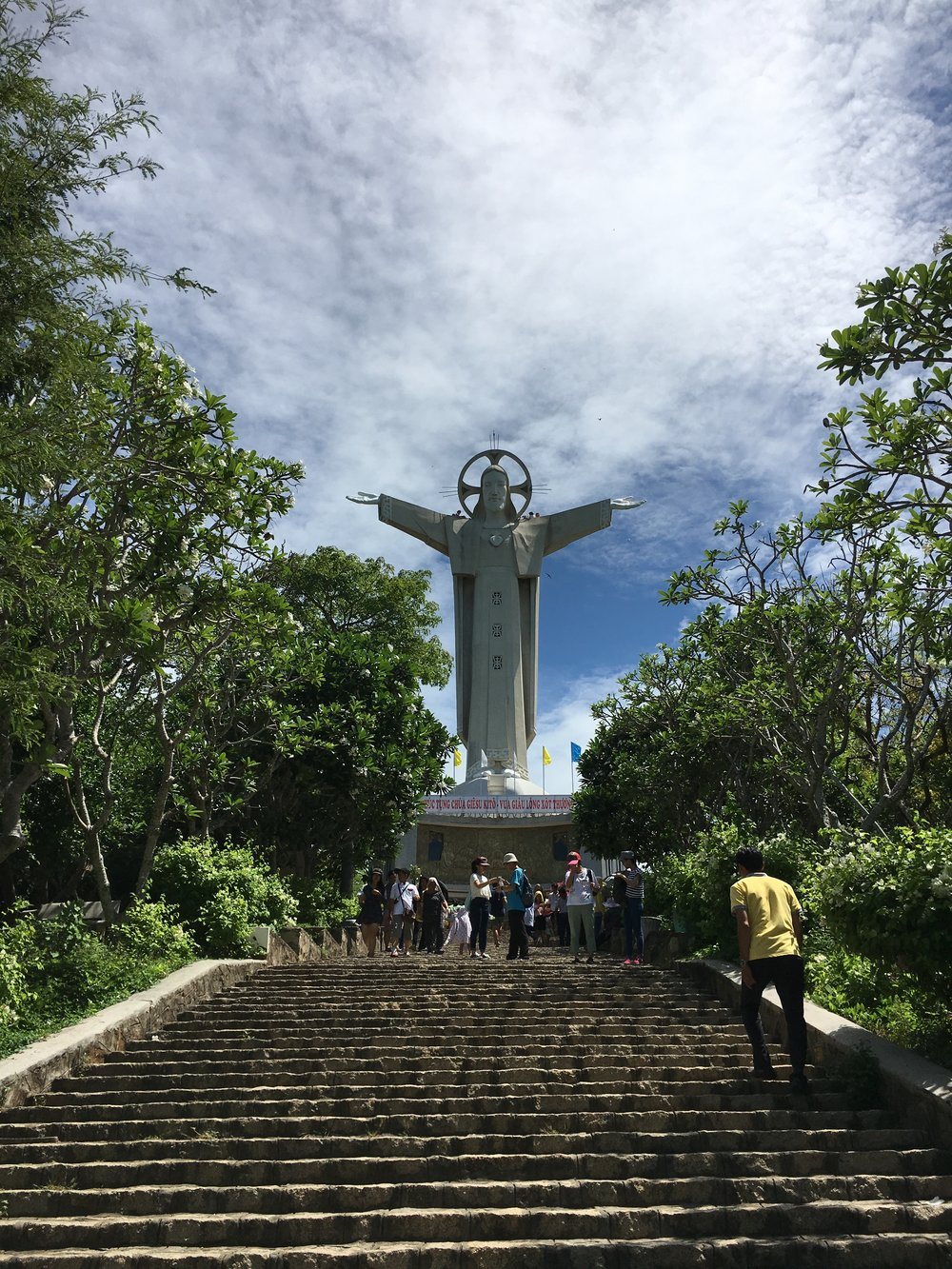 The Statue of Jesus. We walked up 847 stairs to see it up close and personal.