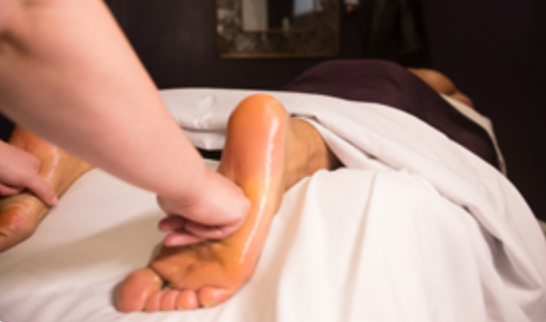 REFLEXOLOGY   Sore feet? This is the treatment for you. Specific pressure techniques are used to stimulate reflex points on the feet that correspond to all areas of the body.  30-minute session: $40  60-minute session: $70