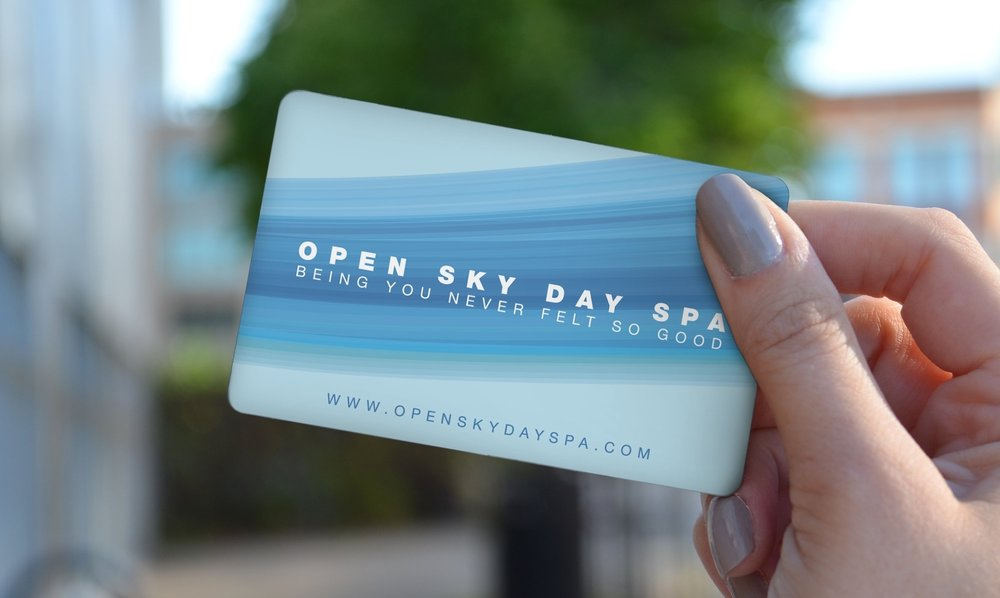 Gift Some Relaxation - Be a hero by giving them a spa package gift certificate from Open Sky Day Spa. Disclaimer mumbo-jumbo: Gift cards are non-refundable nor can be redeemed for cash or credit.