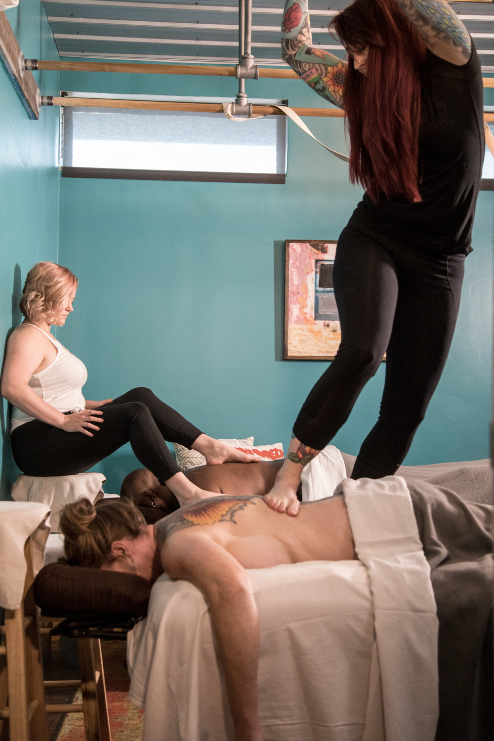COUPLES ASHIATSU MASSAGE Relax with your loved one with one of our most popular massages. 60-minute couples Ashi $170 90-minute couples Ashi $220