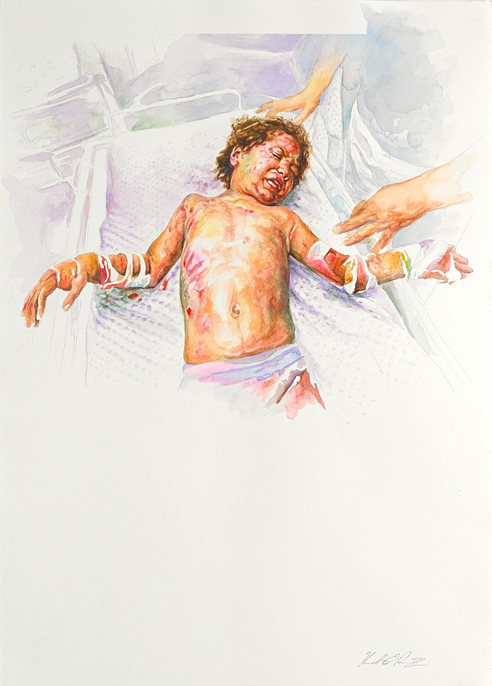 Crucifixion   Watercolor on Paper 14in x 20in