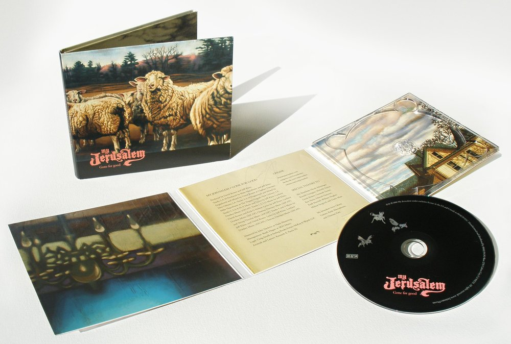 "CD packaging design for US release of ""Gone For Good"", featuring paintings from the ""In The Study"" series"