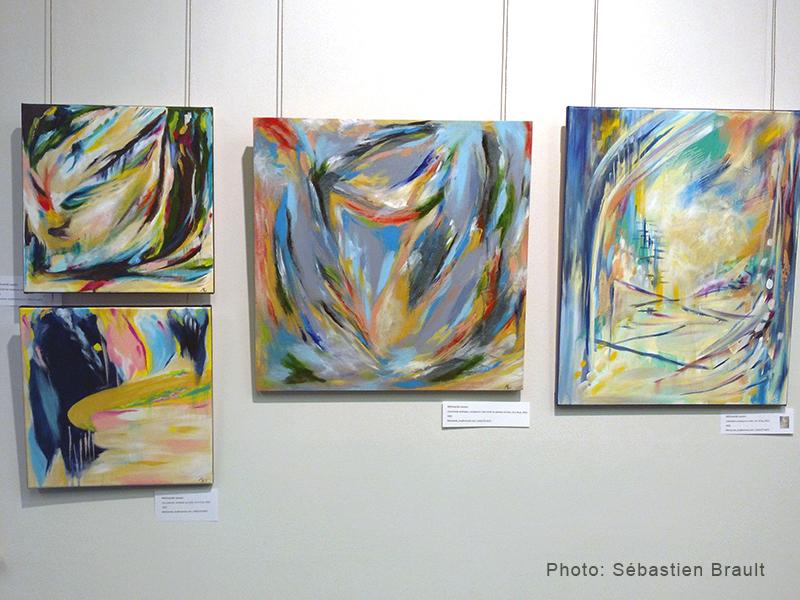 Oeuvres de Mélissande Lauzon artiste peintre à «Expose-toi», Dunham.