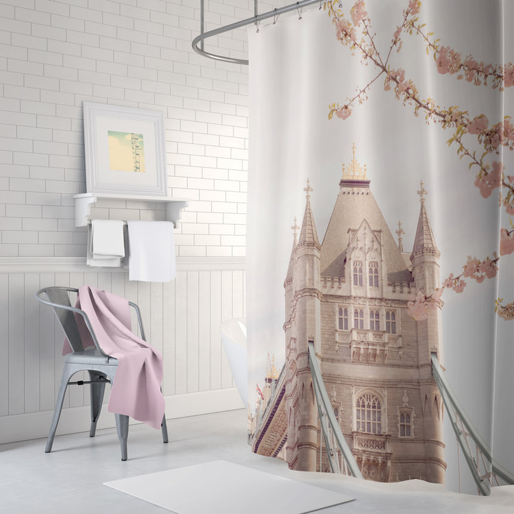 Best London floral shower curtain — Ruby and B GJ49