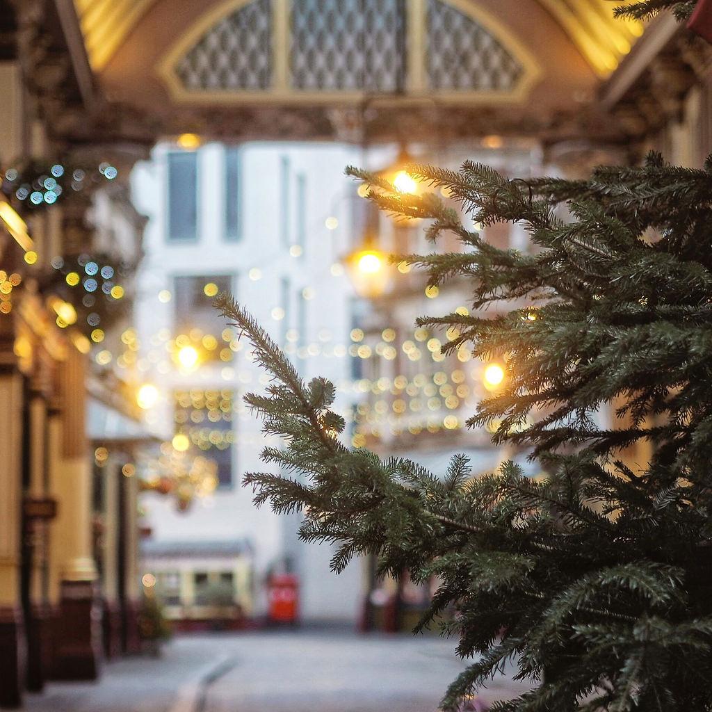Leadenhall Market, London in December, Visit London