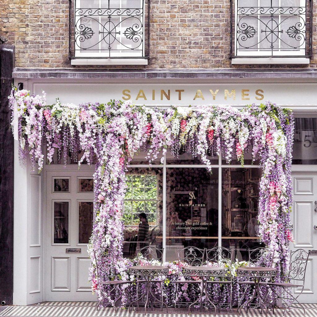 Saint Aymes, Saint Aymes cafe, London cafe