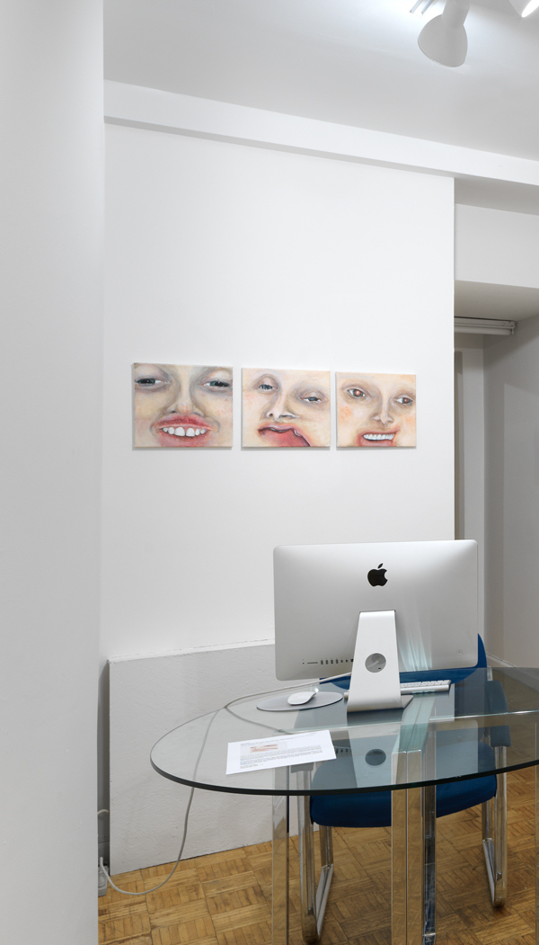 Installation shot from 2017 solo show 'Crazy? Did you Say Crazy? I was Crazy Once, they put in a White Room, I Died there, they Buried me, the Worms Tickled my Feet, it Drove me Crazy...' at Larrie NYC
