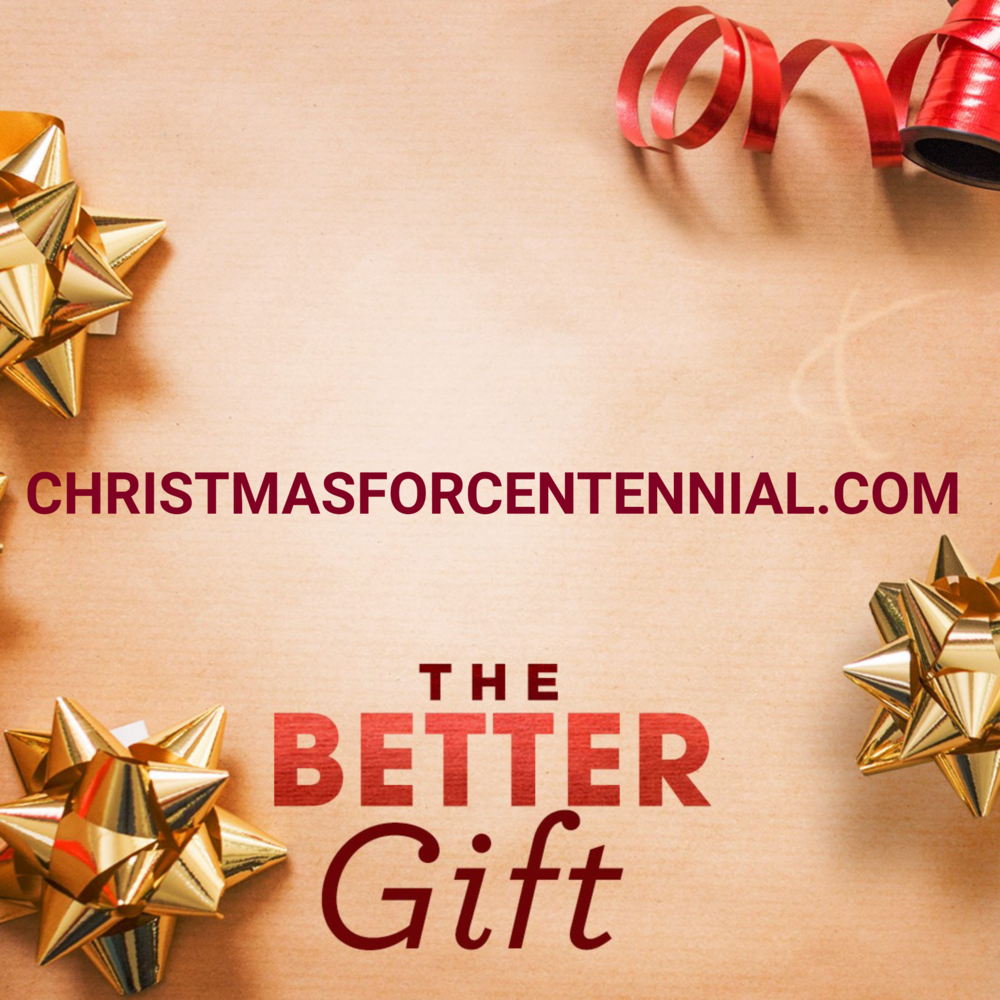 We want to spend Christmas with you!  christmasforcentennial.com   #thebettergift #ChristmasWithUs