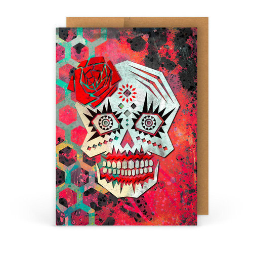 Esto es stella 5 x 7 day of the dead graphic art blank esto es stella 5 x 7 day of the dead graphic art blank greeting card m4hsunfo