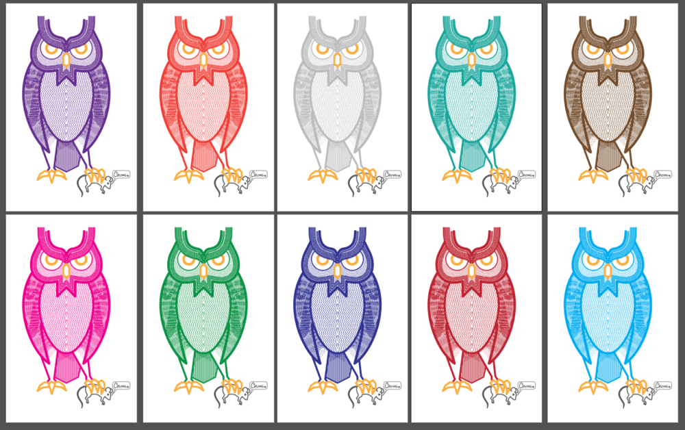 the predator tee design colors