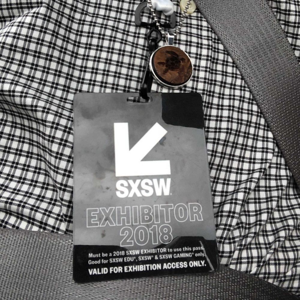 Official SXSW Exhibitor Badge!
