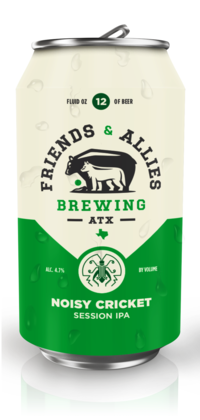 Noisy Cricket Session IPA by Friends & Allies