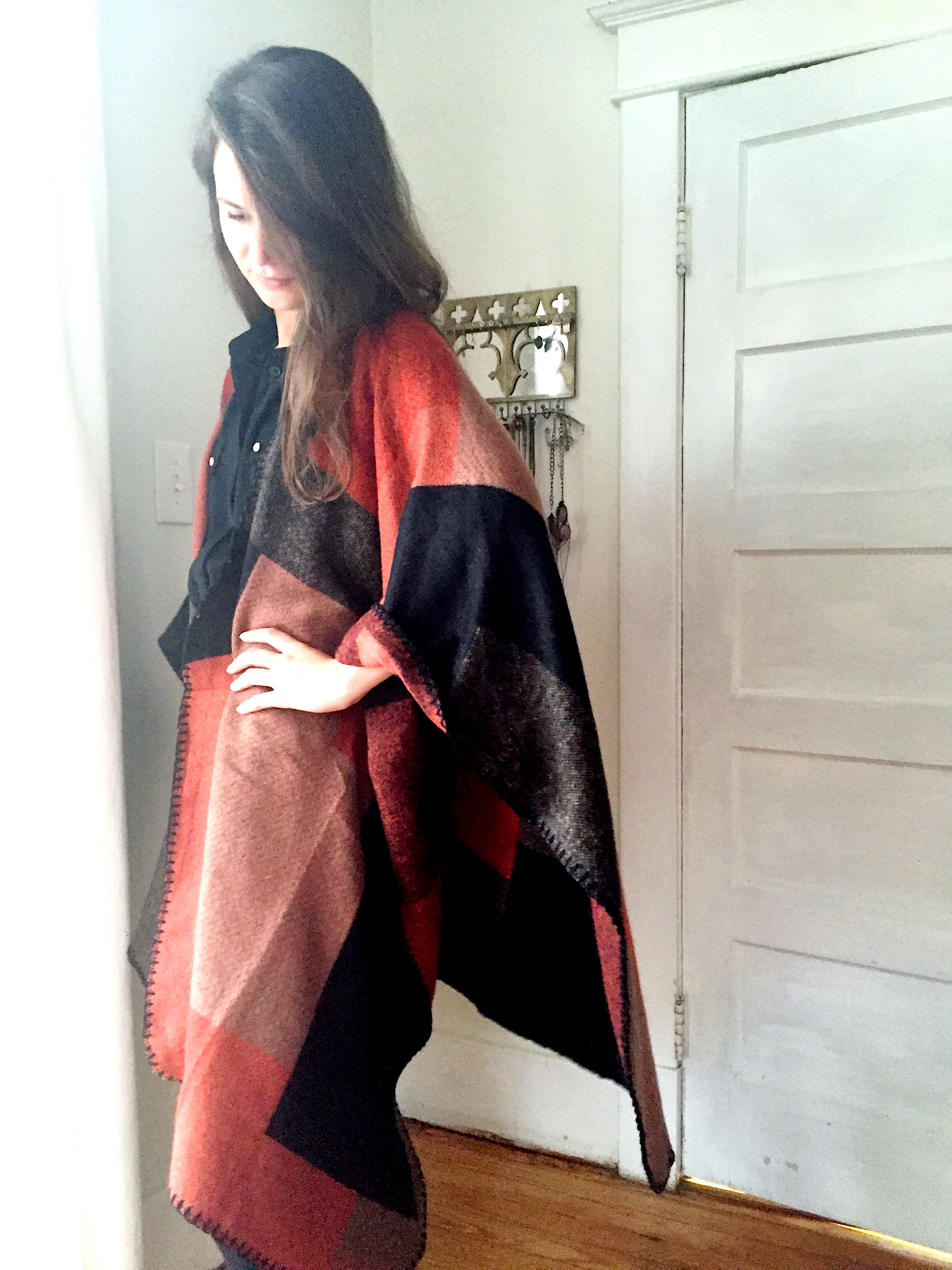 What I'm Wearing: Blanket Cape