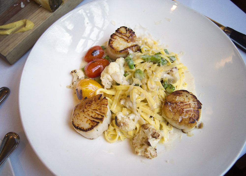 Papadelle Pasta with Scallops