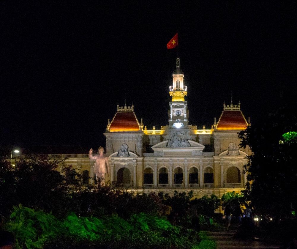Ho Chi Minh Squares at night.