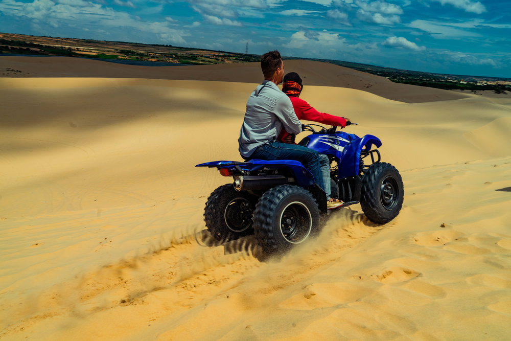Out for a ride on the White Sand Dunes near Mui Ne, Vietnam