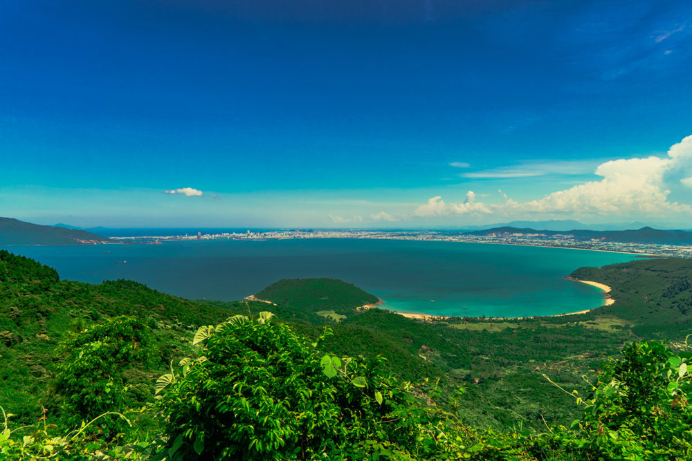 Looking back on the entire city of Da Nang. My apartment is somewhere on that coastline with the exact opposite view!