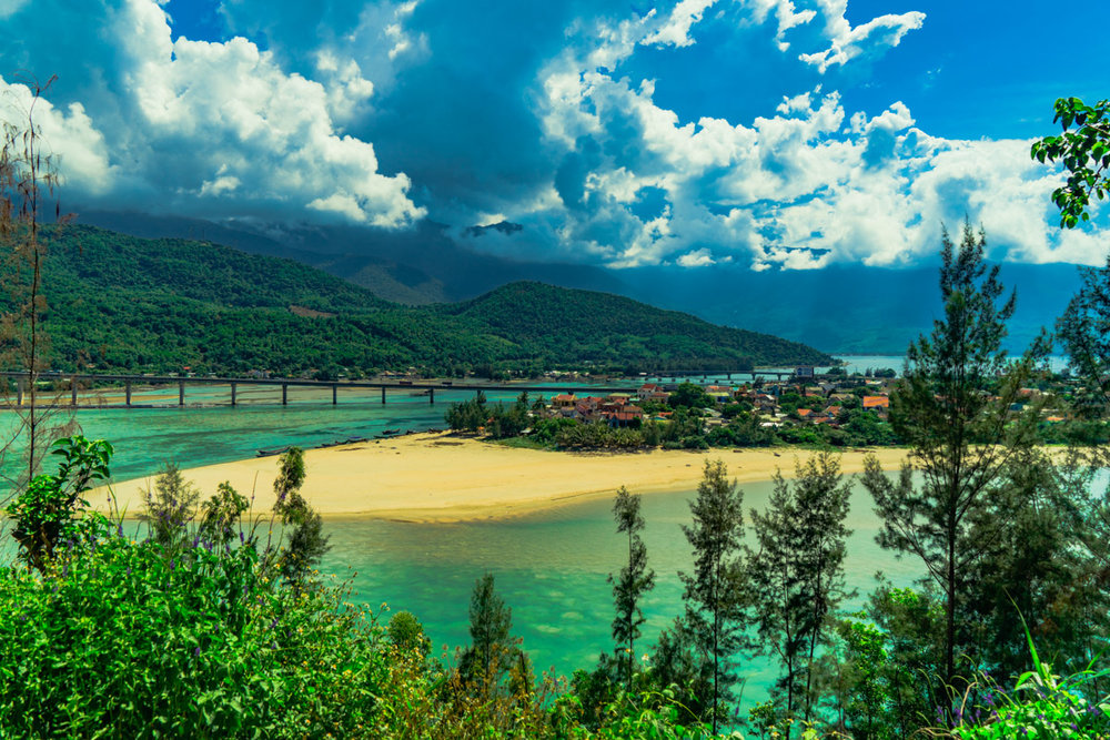 The bottom of the Hue side of Hai Van Pass once I slowed down and took in a the view!
