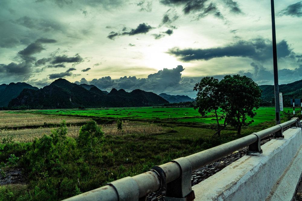 Sunset over Phong Nha