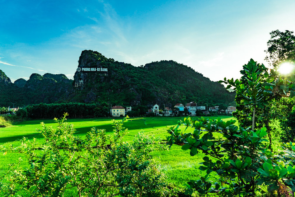 Phong Nha's version of the Hollywood sign that welcomes you to town!