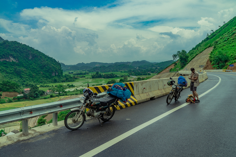Leaving the flat lands and getting to our first mountains on the way to Cao Bang