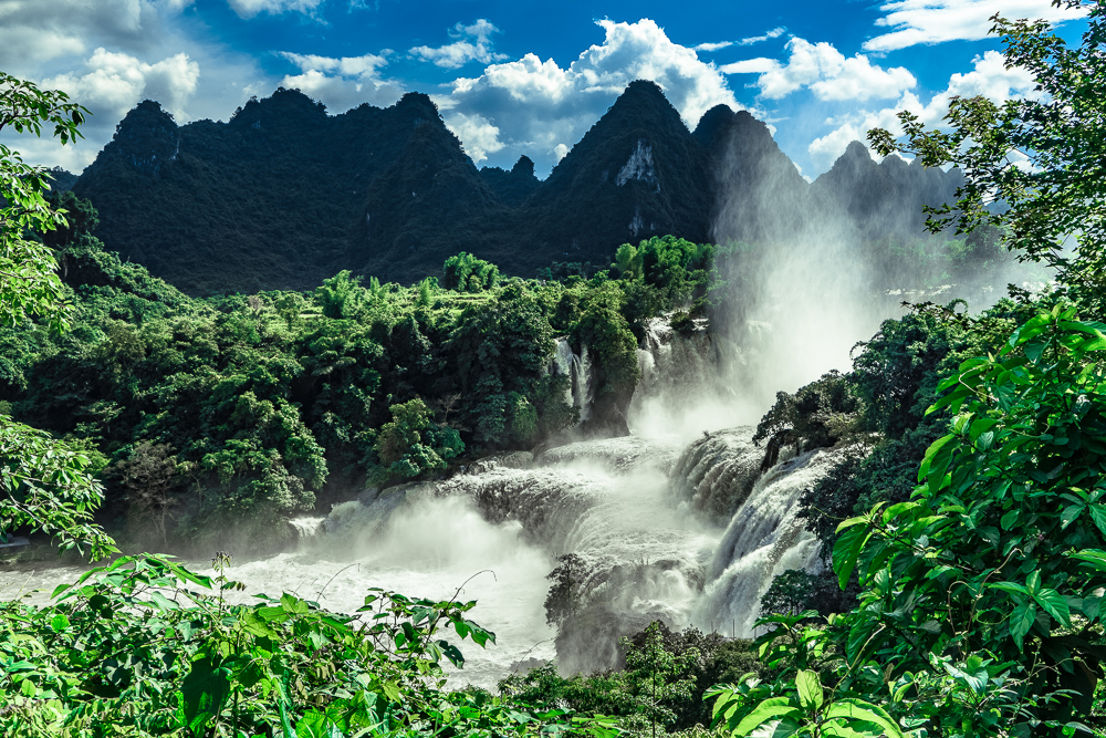 In China it's the Detian Waterfall.Being this close to the power of the water was intense.