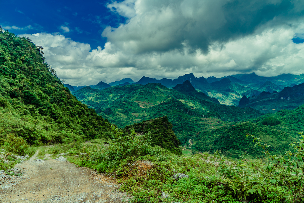 One of the unmarked dirt roads we took on the very Northern tip of Vietnam!