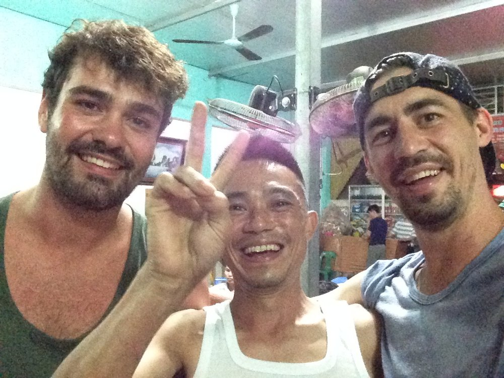 Ryan, Thuan and I after a few too many Bia Hoi's!