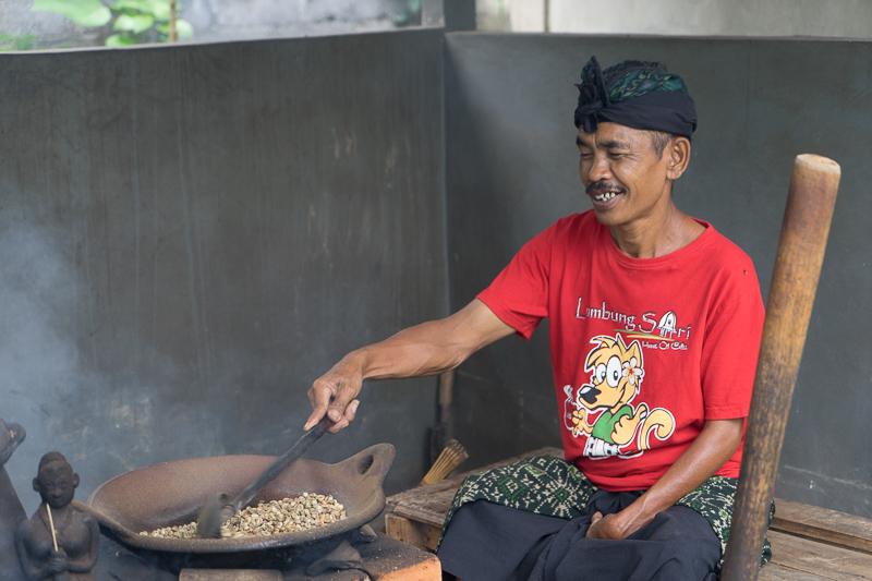 Bali Coffee Roasting the old-school way