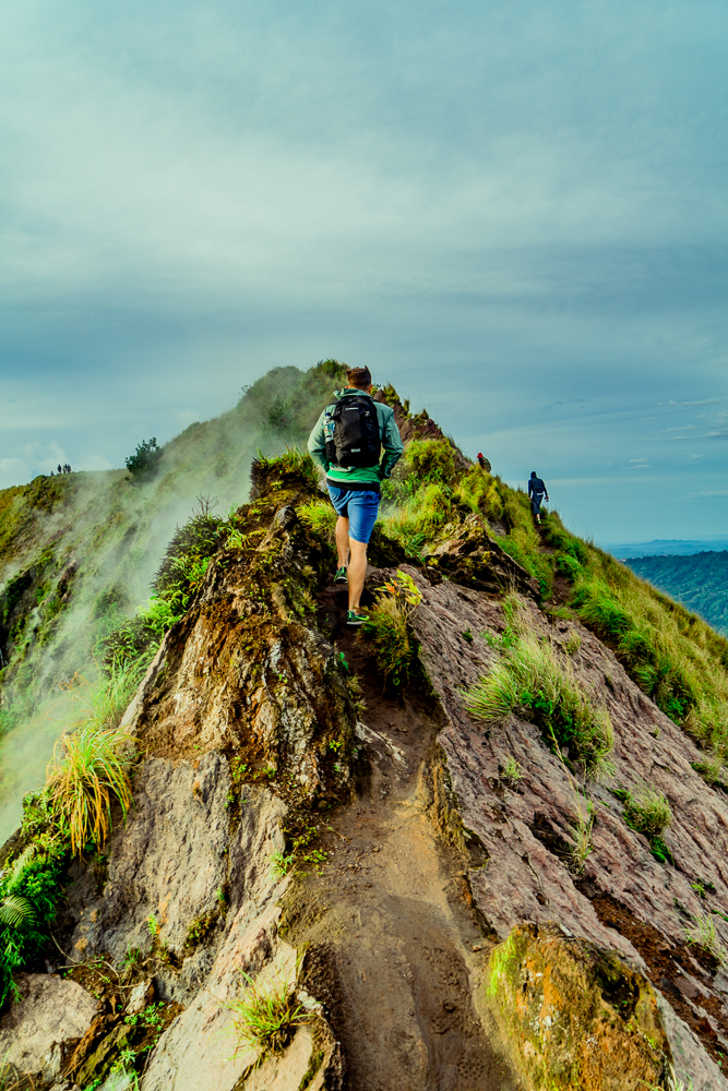 One of my favorite shots as we were hiking around the rim of Mt. Batur
