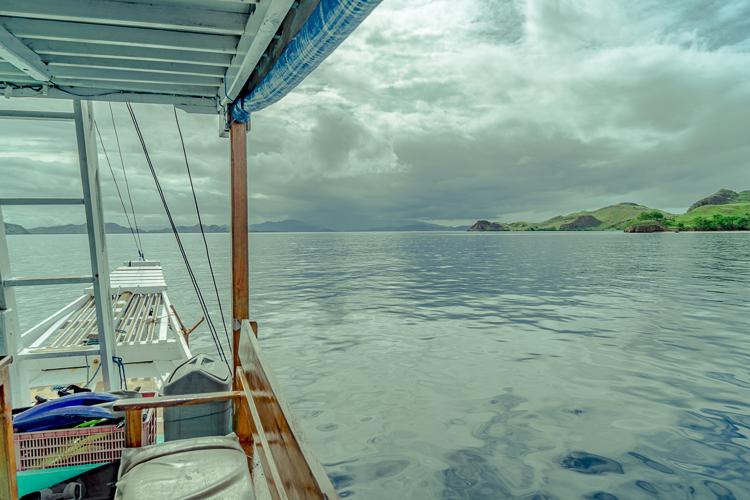Boat parked at Kanawa Island